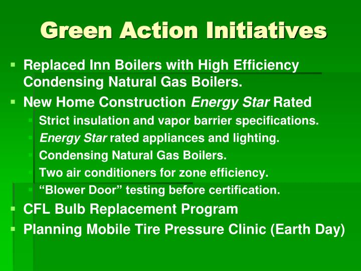 Green action initiatives