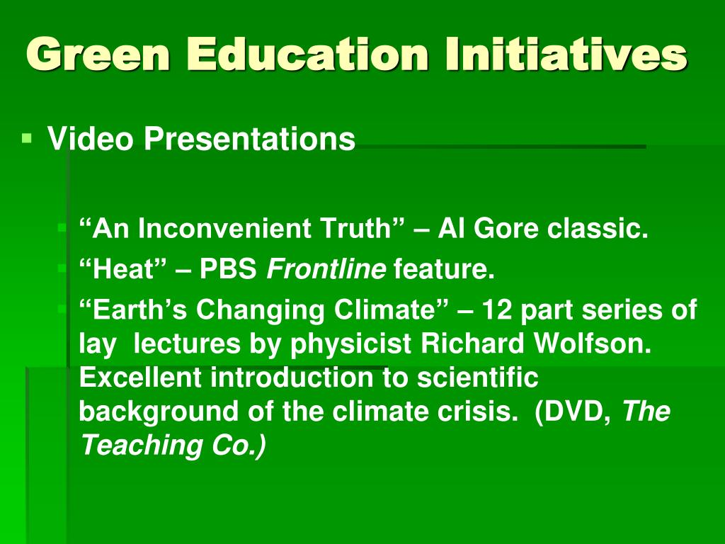 Green Education Initiatives
