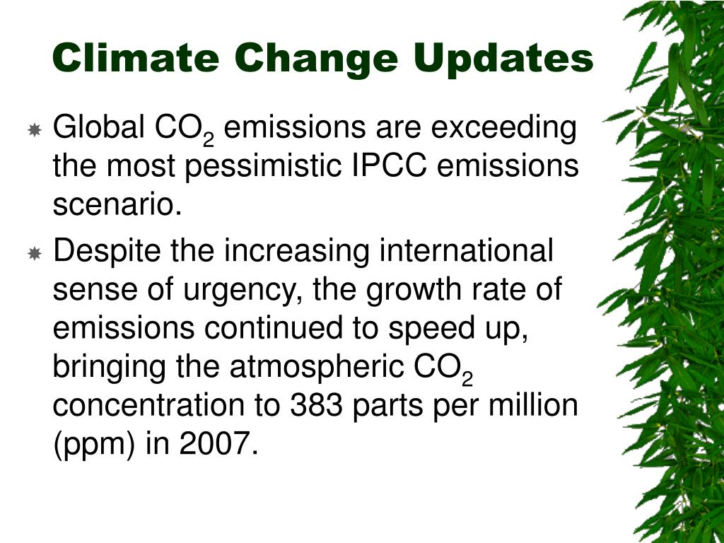 Climate Change Updates