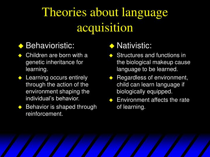 Behavioristic: