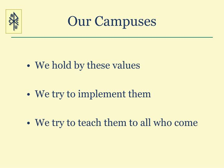Our Campuses