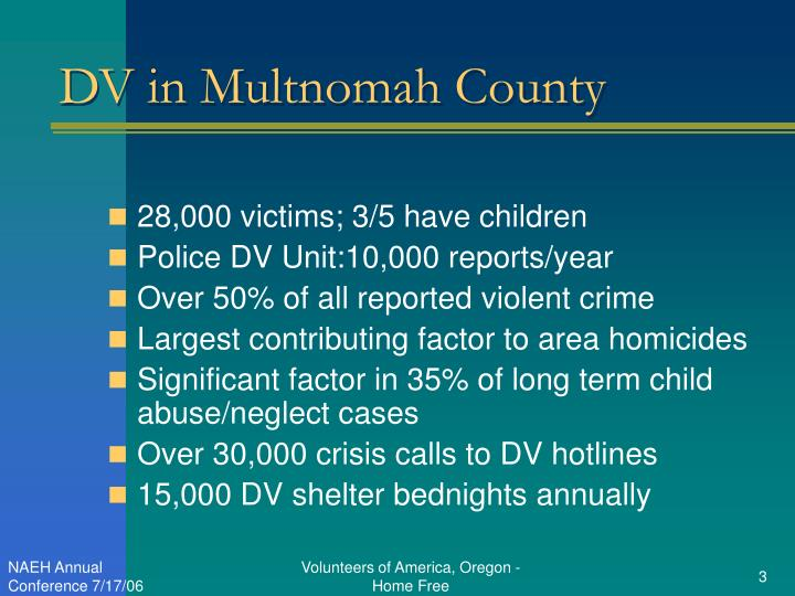 Dv in multnomah county