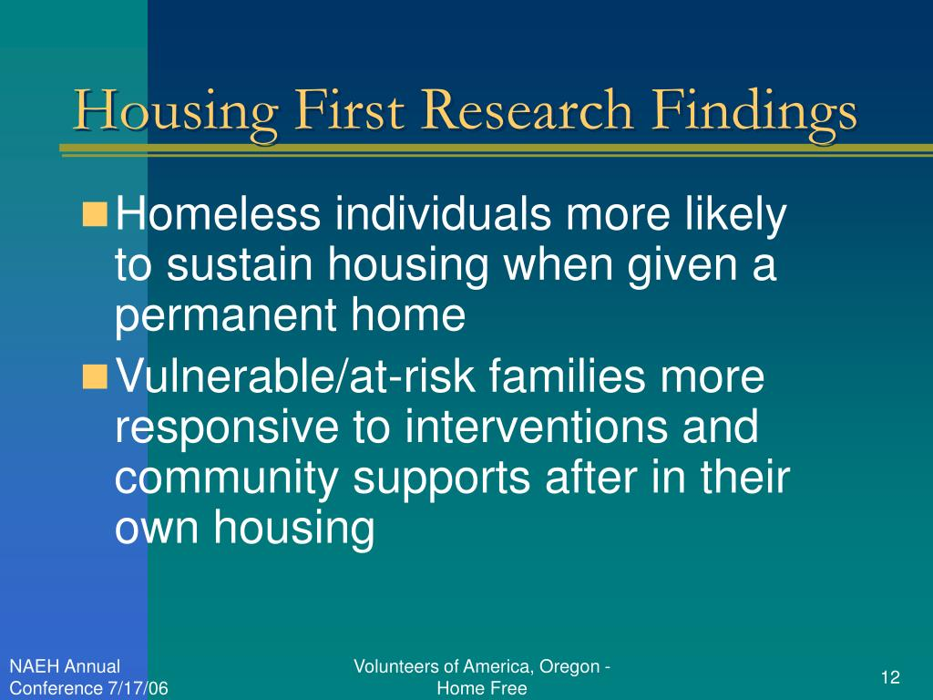 Housing First Research Findings