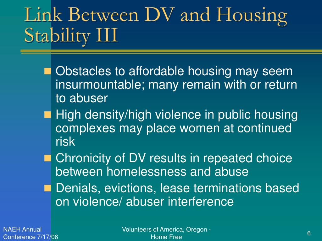 Link Between DV and Housing Stability III