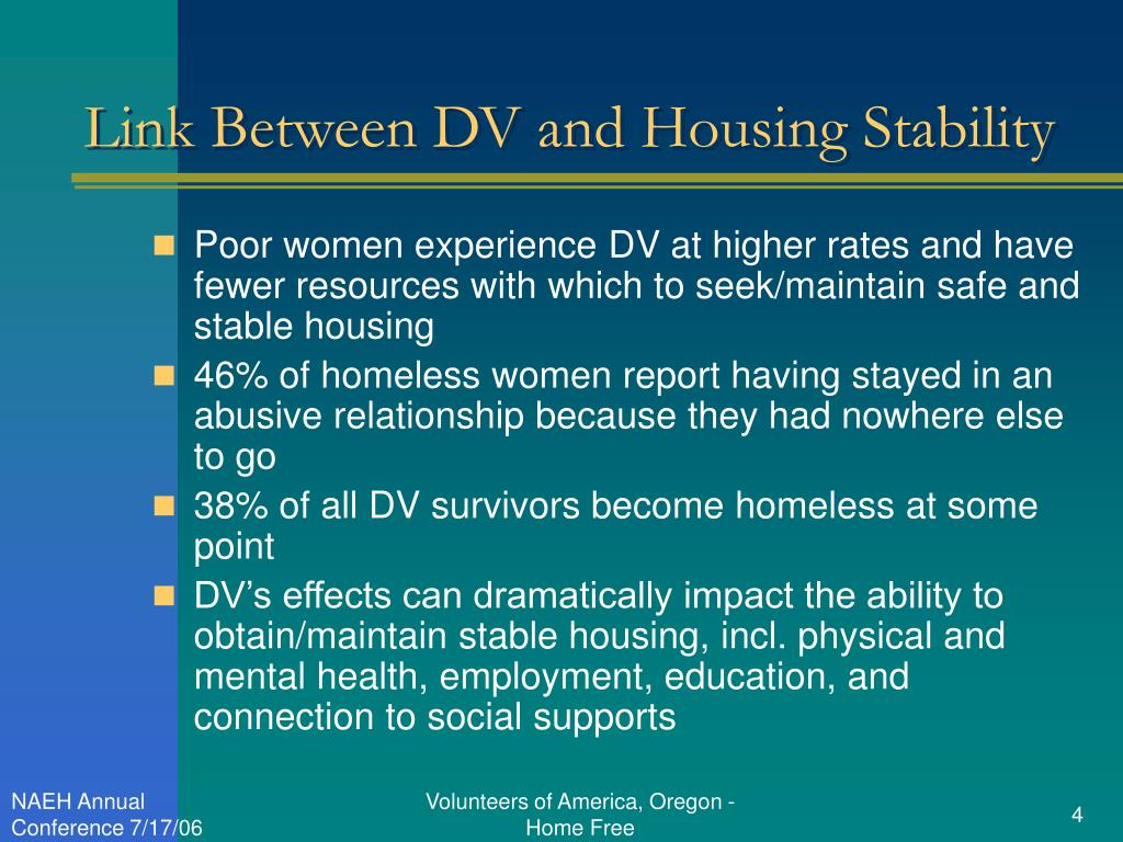 Link Between DV and Housing Stability