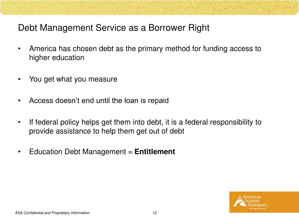 Debt Management Service as a Borrower Right