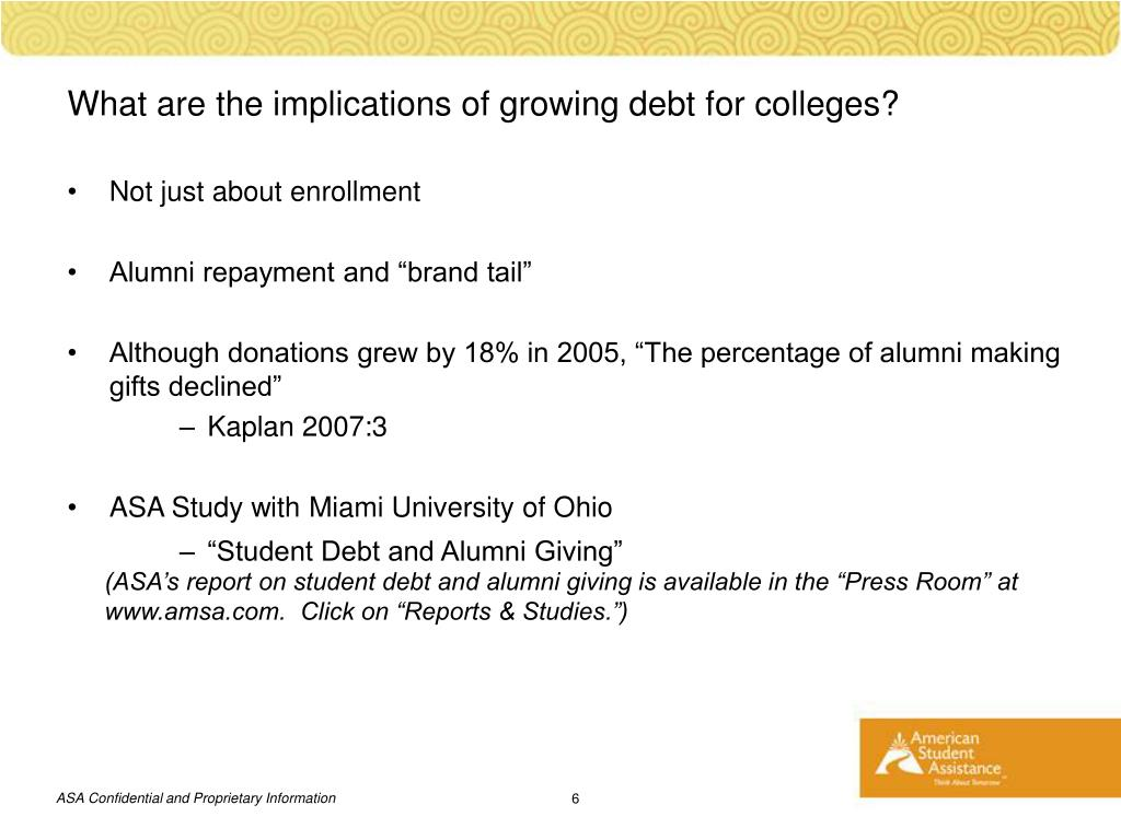 What are the implications of growing debt for colleges?