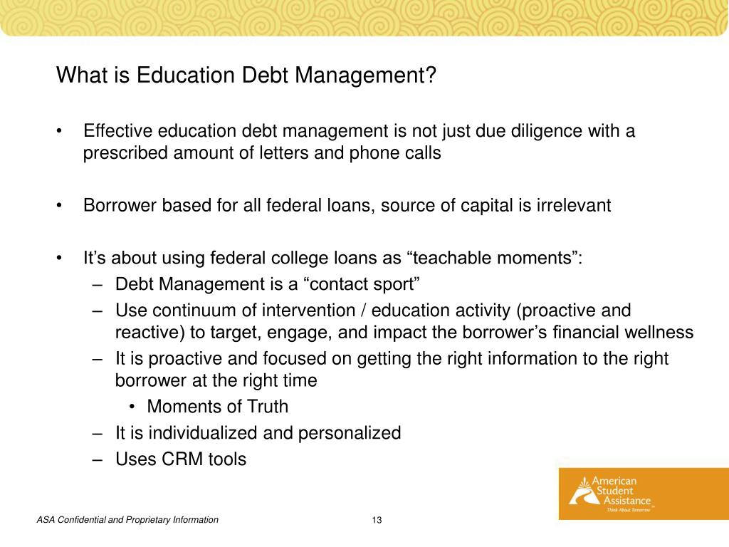 What is Education Debt Management?
