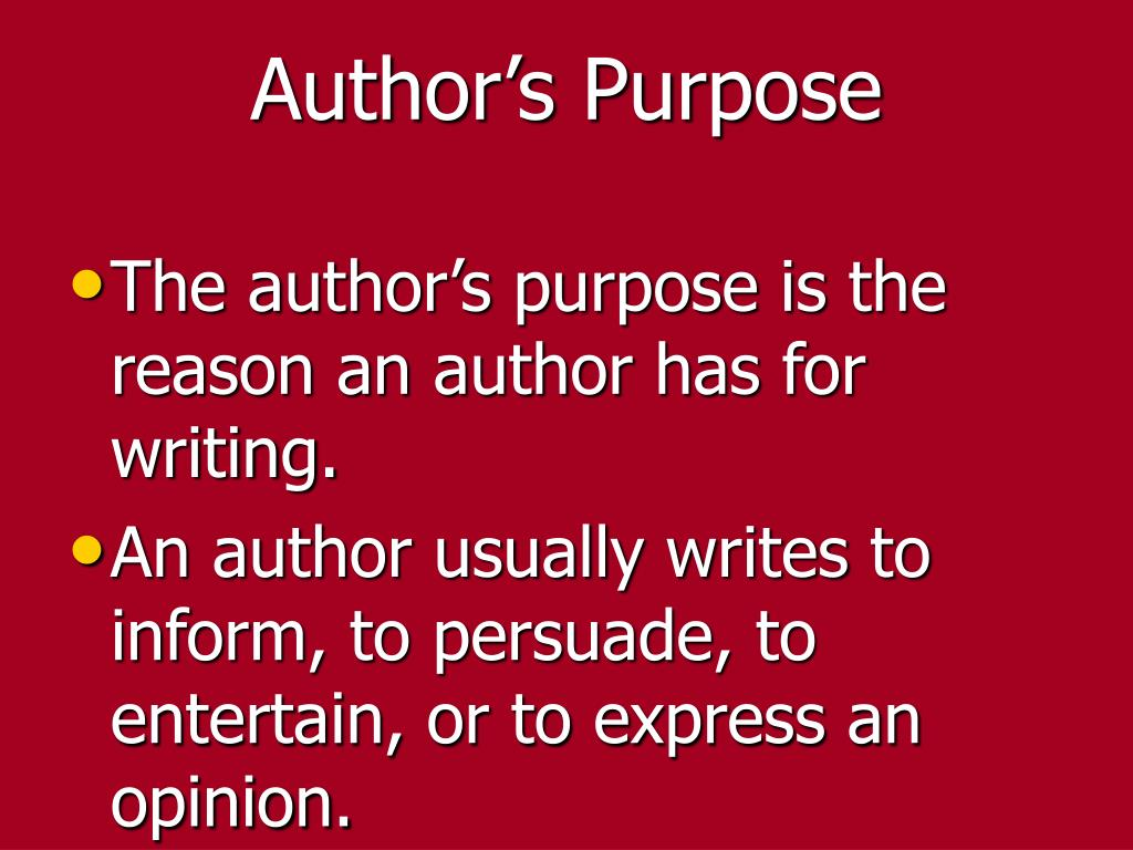 Author's Purpose