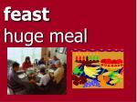 feast huge meal