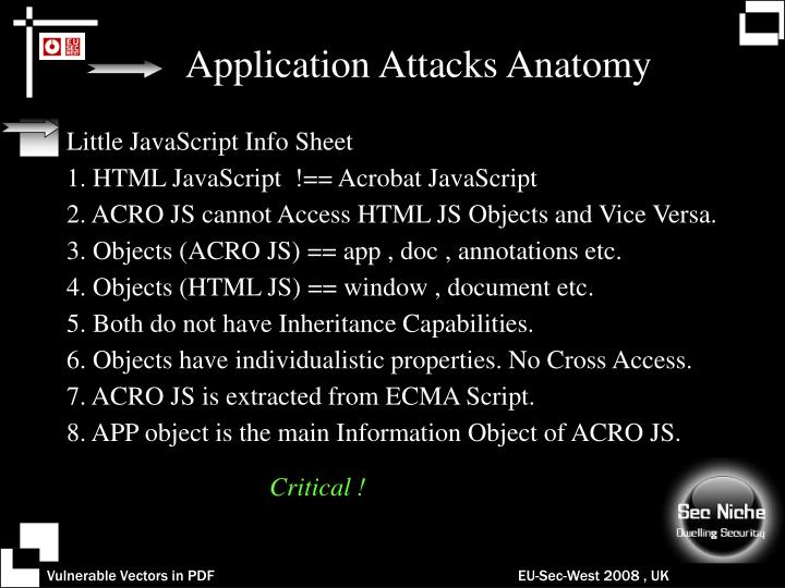 Application Attacks Anatomy