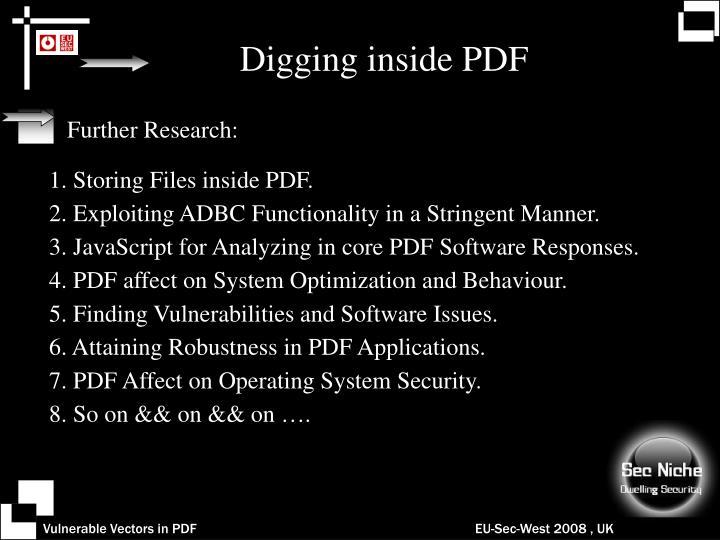 Digging inside PDF