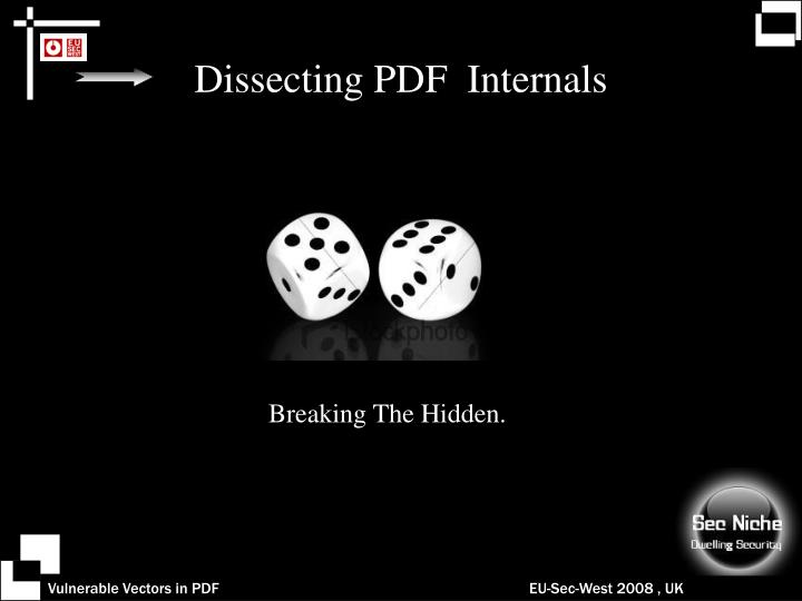 Dissecting PDF  Internals