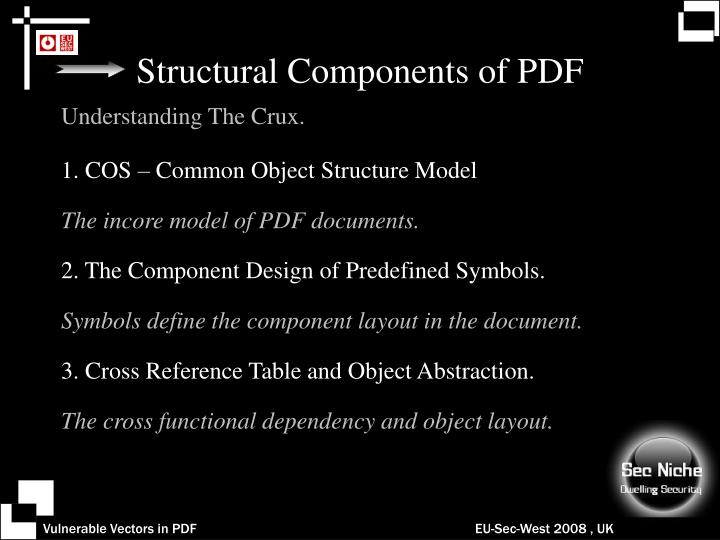 Structural Components of PDF