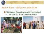 action plan religious education