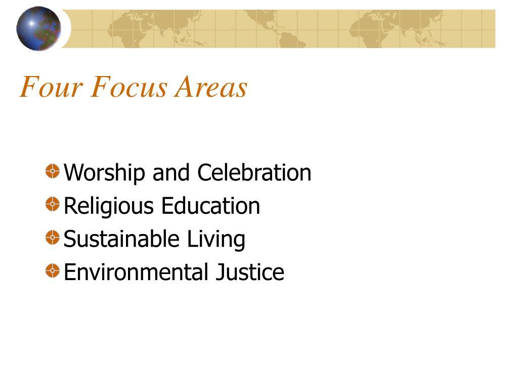 Four Focus Areas