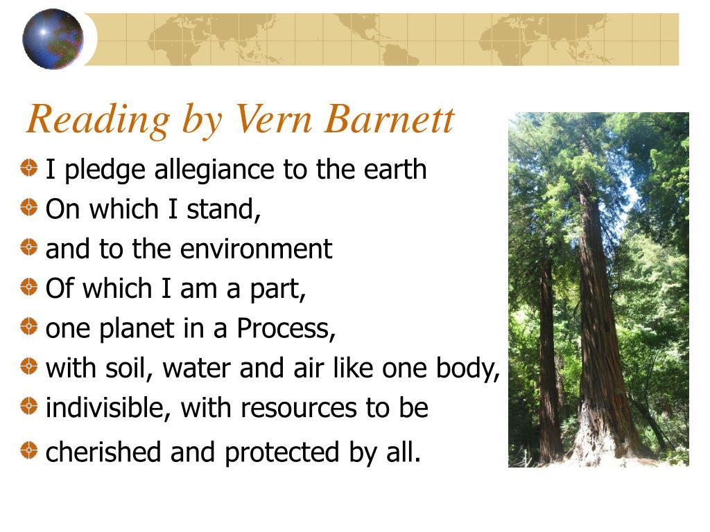 Reading by Vern Barnett
