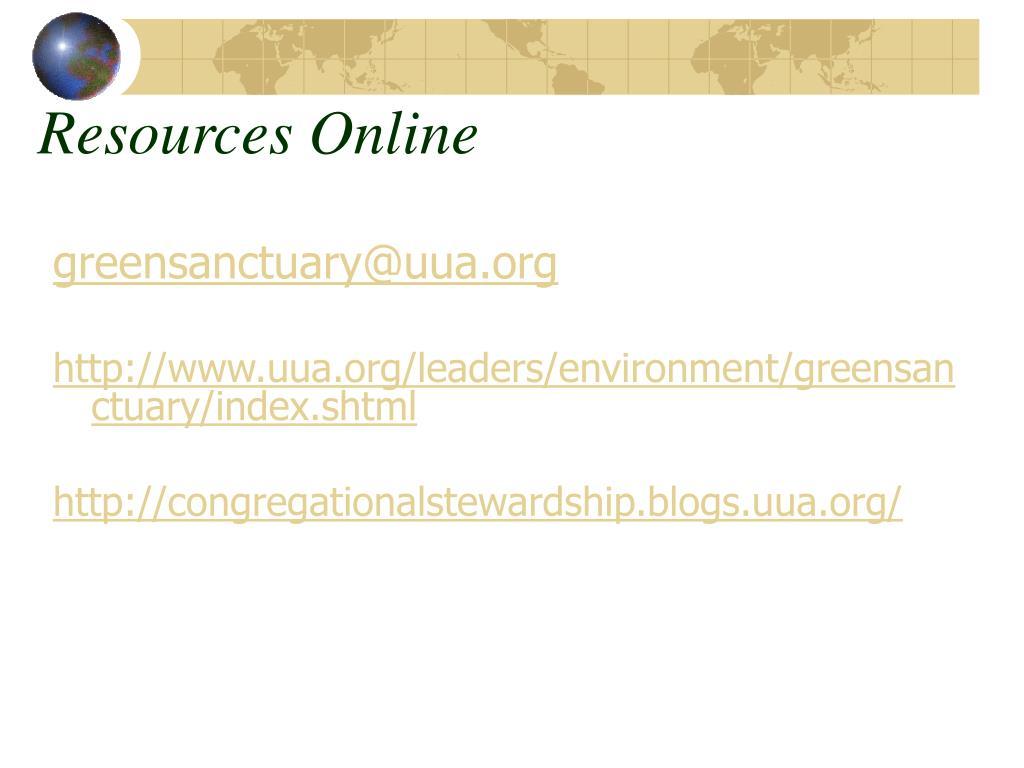 Resources Online