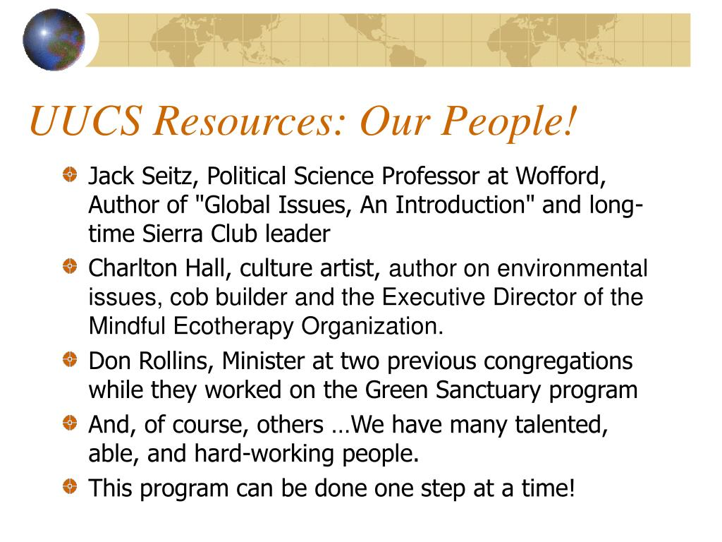 UUCS Resources: Our People!