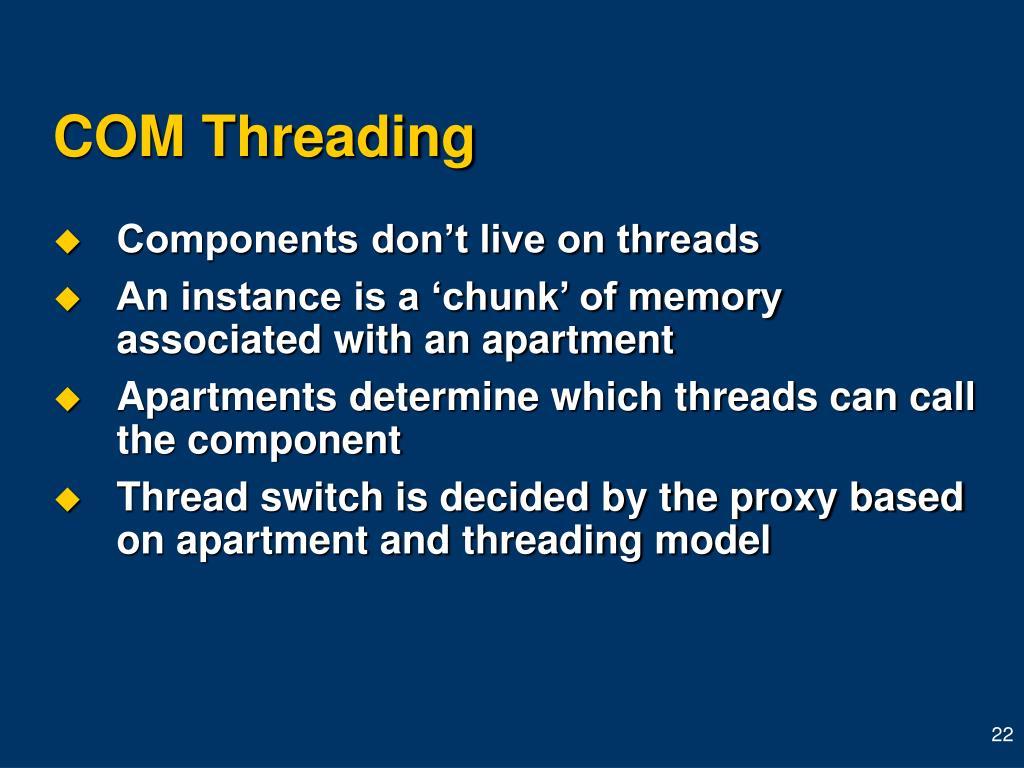 COM Threading
