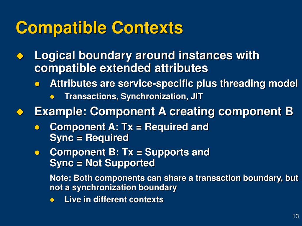 Compatible Contexts