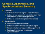 contexts apartments and synchronizations summary
