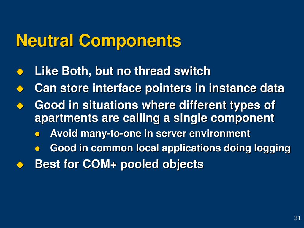 Neutral Components