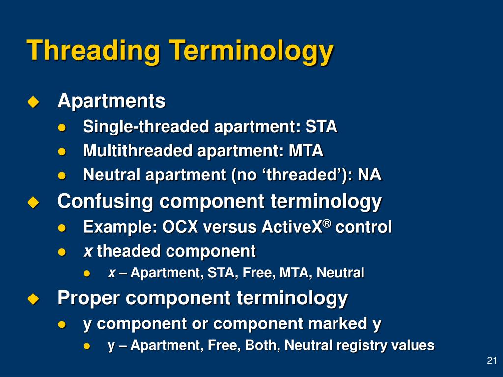 Threading Terminology