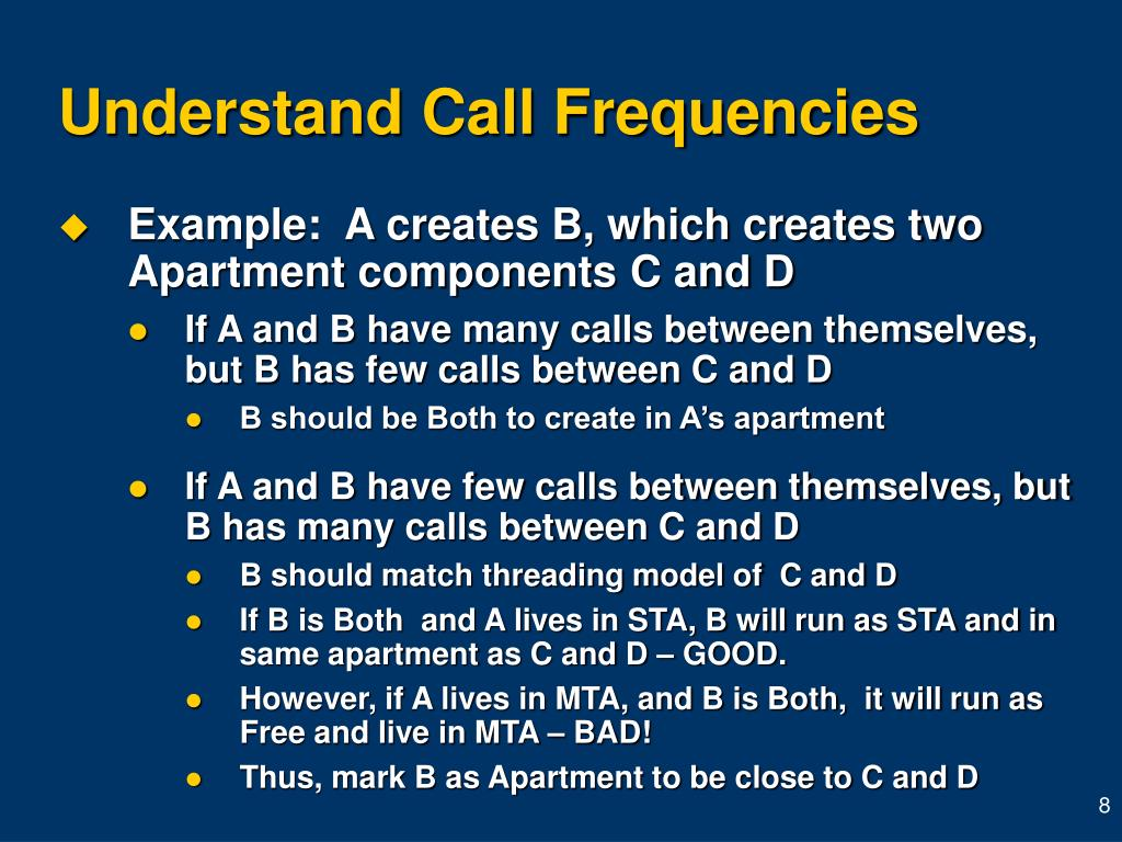 Understand Call Frequencies