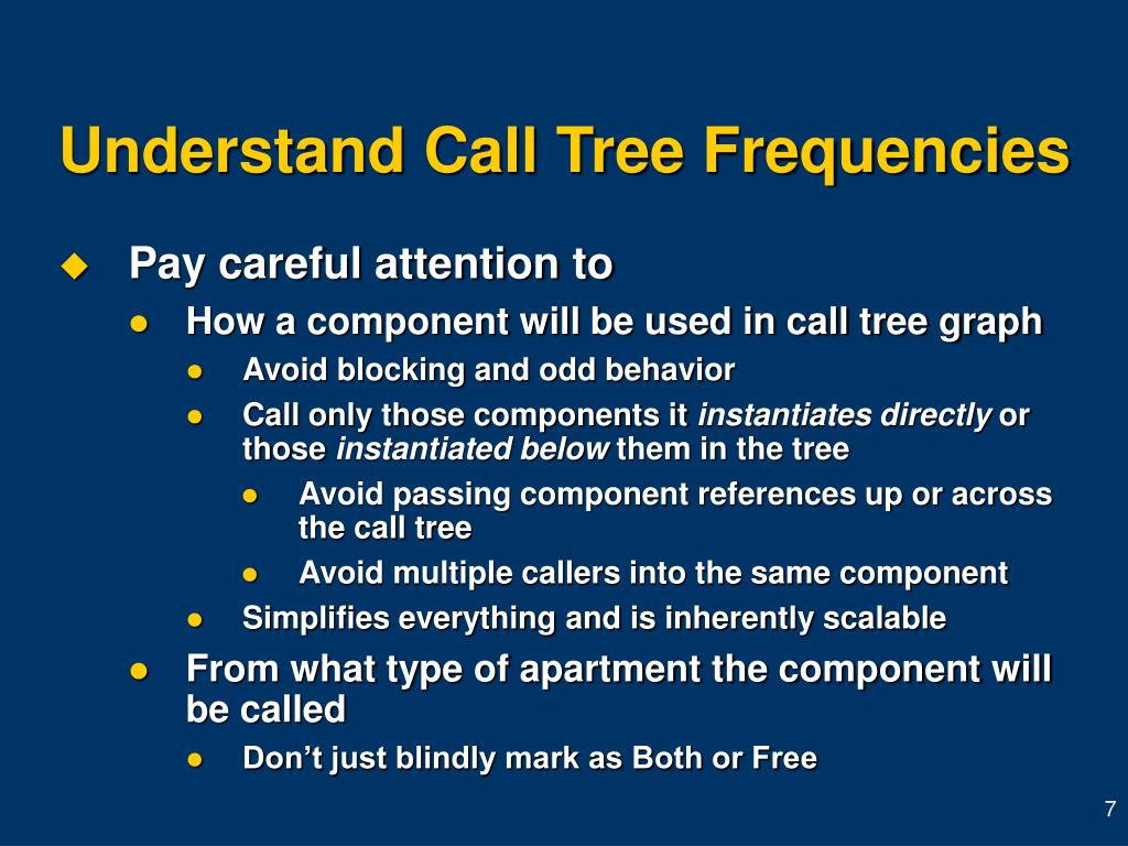 Understand Call Tree Frequencies