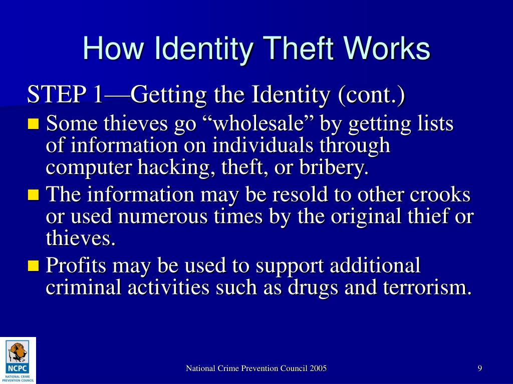 How Identity Theft Works