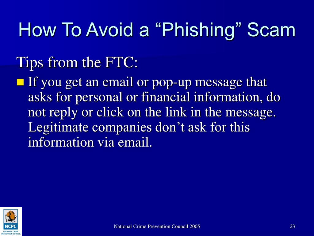 "How To Avoid a ""Phishing"" Scam"