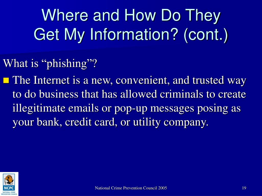 "What is ""phishing""?"