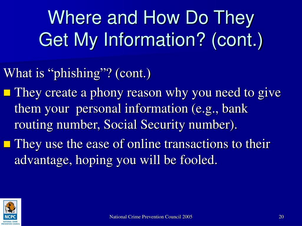 "What is ""phishing""? (cont.)"