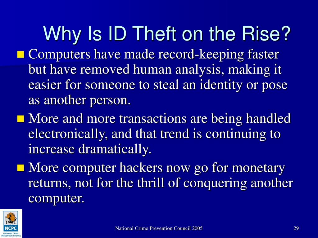 Why Is ID Theft on the Rise?