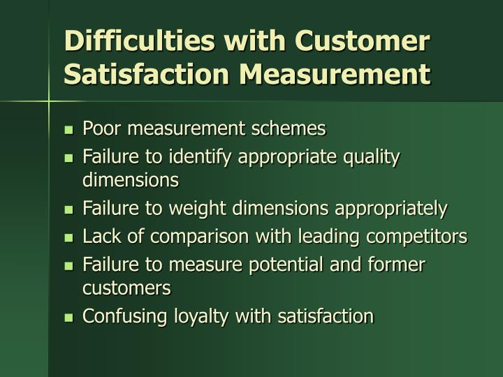Difficulties with Customer Satisfaction Measurement