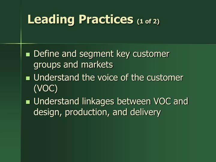 Leading Practices
