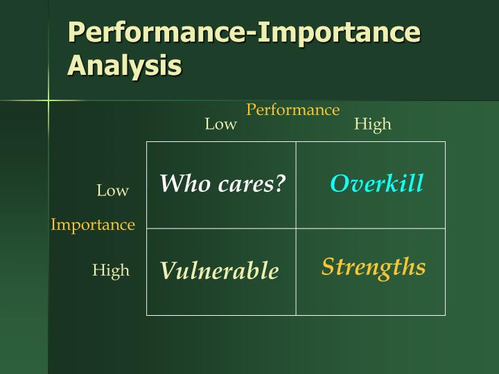 Performance-Importance Analysis