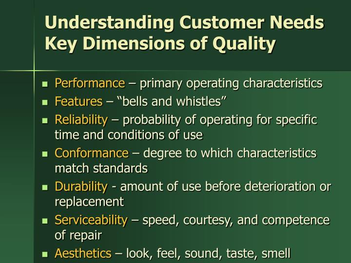 Understanding Customer Needs