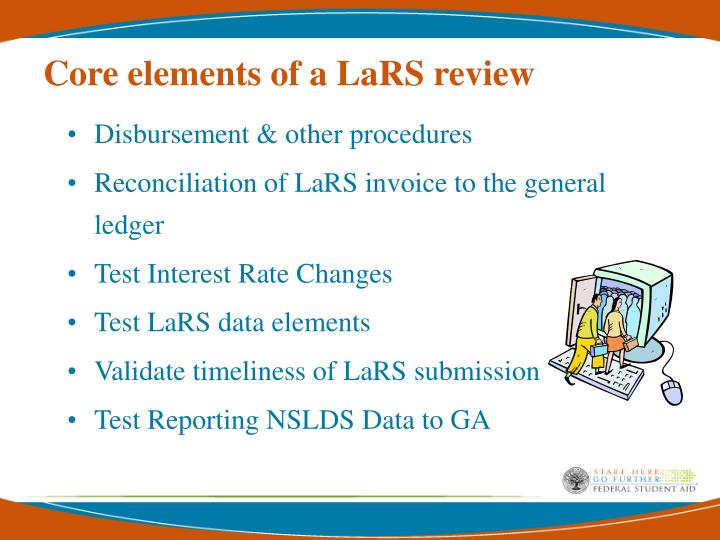 Core elements of a LaRS review