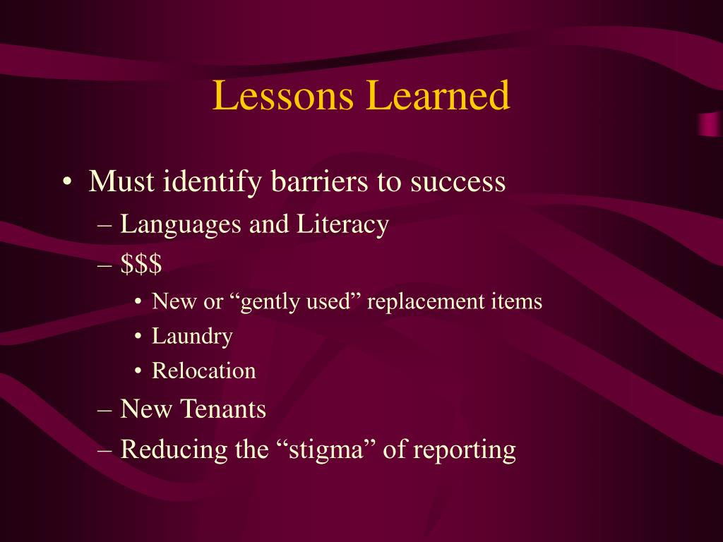 Lessons Learned