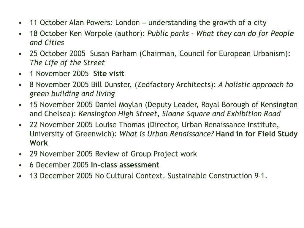 11 October Alan Powers: London