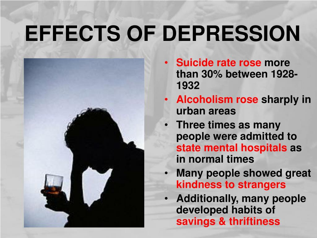 EFFECTS OF DEPRESSION