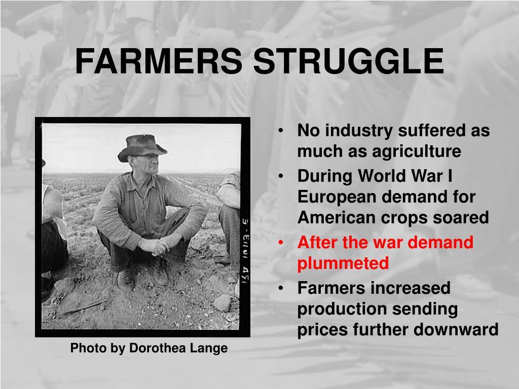 FARMERS STRUGGLE