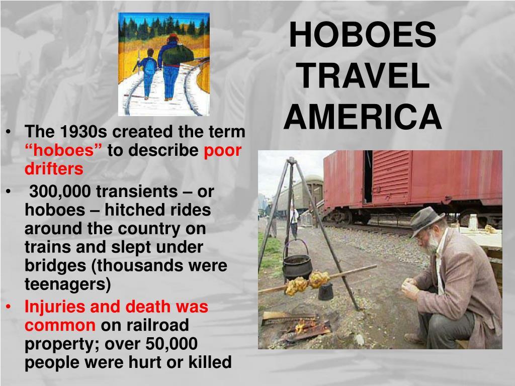 HOBOES TRAVEL AMERICA