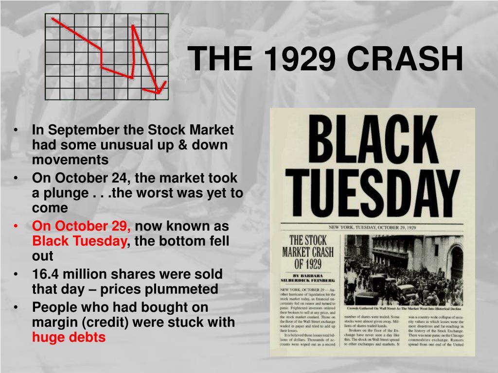 THE 1929 CRASH