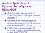 another application of dynamic reconfiguration biowatch