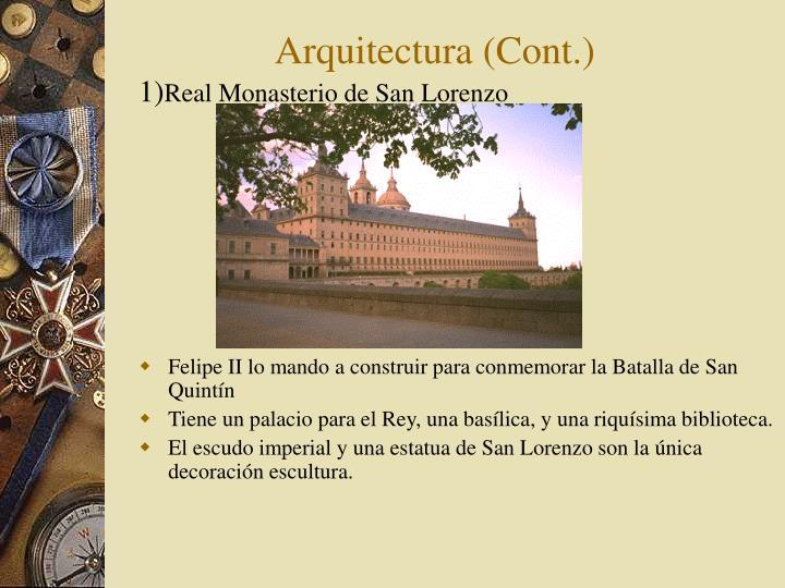 Arquitectura (Cont.)