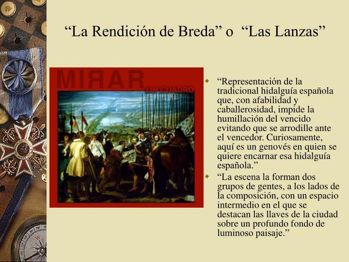 """""""La Rendición de Breda"""" o"""