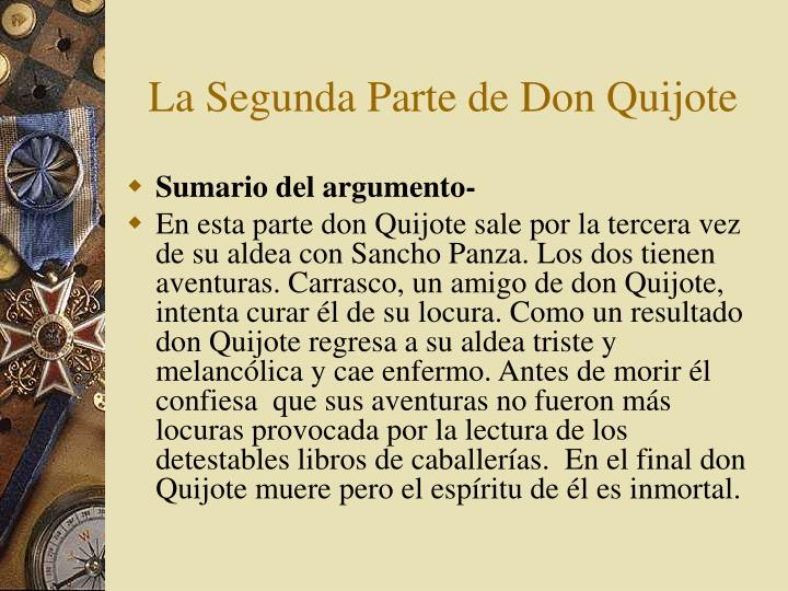 La Segunda Parte de Don Quijote